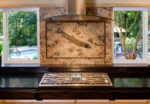 honed fossil stone backsplash 7