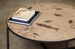 honed fossil fish stone 42 inch round table top