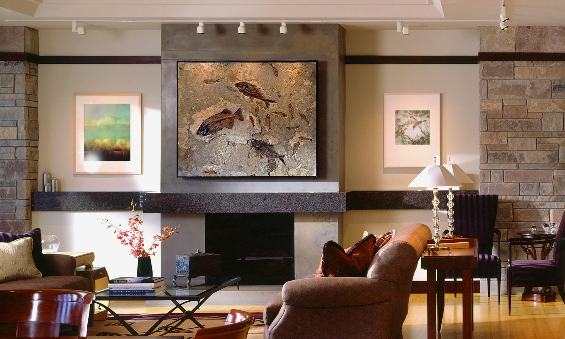Fish Fossil Wall Art, Furniture, And Custom Interiors | Green River Stone  Company
