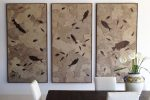 fossil stone triptych mural 1