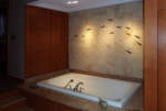 fossil stone tile bath 8