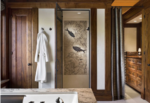 combo finish fossil stone shower bathroom
