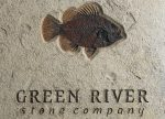 Green River Stone Company Logo in Stone