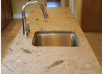 honed fossil stone countertop 11