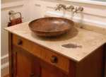 honed fossil stone vanity countertop 9