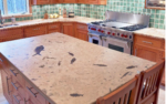 honed fossil stone countertop 3