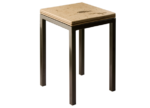 honed fossil end table parson