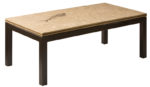 honed fossil coffee table parson