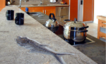 Fossil Stone Countertop Combination Finish 8