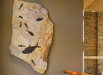 Home interior with fossil irregular mural 8